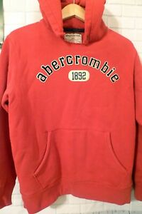 Youth XL Abercrombie Red Hoodie Sweatshirt Heavy Rugged Pullover