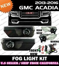 13 14 15 16 GMC ACADIA Fog Light Driving Lamp Kit w/ switch wiring (CLEAR)