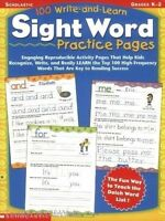 100 Write and Learn Sight Word Practice Pages  Engaging Reproducible Activity