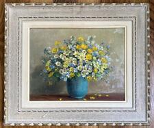 Tableau Nature morte Bouquet de Fleurs Peinture signée Jean Verdier 1889-1976