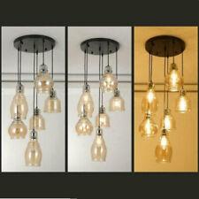 Antique Pendant 6-Light Chandeliers Cognac Glass Ceiling Fixtures Pendant Lamps