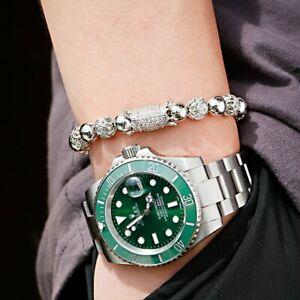 Fashion Luxury Cubic Zirconia Ball Copper Bead Men Women Couple Bracelets Gift