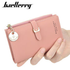 RFID Blocking Women Small Leather Wallet Credit Card Holder Mini Bifold Purse US