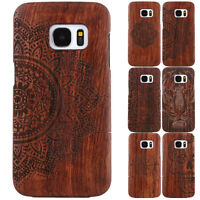 100% Original Natural Wooden Wood Bamboo Hard Slim Case Cover For iPhone 5 5S SE