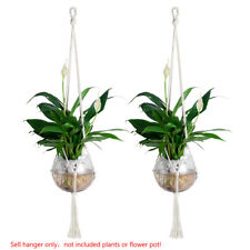 2X Simple Cotton Knitted Rope Plant Hanger Indoor Hanging Planter Basket 72CM A