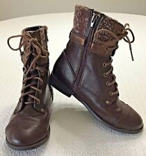 Justice Knit Top Zip Up Brown Boot Girls Size 4