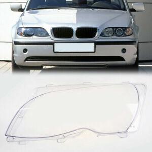 Front Left Headlight Headlamp Plastic Clear Lens Cover for BMW E46 4Door 02-05