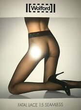 Wolford Fatal Lace 15 Seamless Tights Color: Gobi Size: Small 18466 - 12