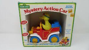 Vintage ILLCO Sesame Street Big Bird Mystery Action Car with Box
