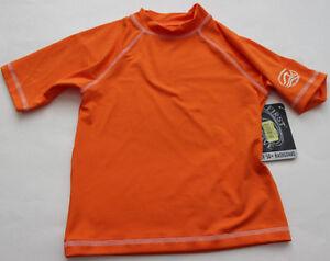 First Wave 14 16 Rash Guard Rashguard Swim Shirt S/S NWT Orange