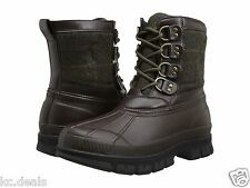 8D Polo Ralph Lauren Men's Crestwick Winter Boots Olive Dark Brown