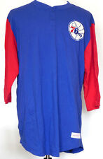 Mitchell & Ness NBA In The Clutch Red Blue Henley Philadelphia 76ers 3XL