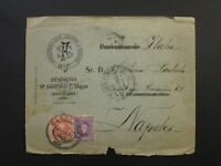 Spain Early 1900s Cover to Italy / Small Edge Tears - Z6095