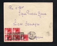 Storia Postale Repubblica Lettera viaggiata da Palermo per Trapani 3l democratic