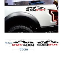 2Pcs Car Off-Road Pickup 4X4 Mountain Graphic Sport Sticker Decoration Decals