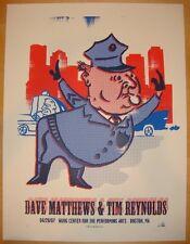 2007 DAVE MATTHEWS TIM REYNOLDS BOSTON COP CONCERT POSTER 4/20 WANG BONUS S/N