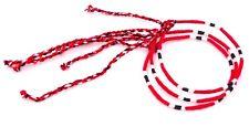 Lot 3 Bracelets Brésiliens de l'Amitié Macramé coton Porte Bonheur noir rouge