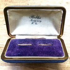 Purple Antique Velvet Jewelry Presentation Box Two Ring Display VTG Empty Blue