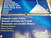 Westinghouse Lighting Pendant  Angelo 10 Inch Polished Brass Drop Cord NIOB