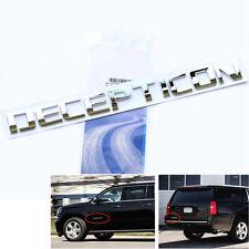 1x Chrome OEM DECEPTICON Nameplate Emblem Badge GMC Silverado Tahoe Ford dodge u