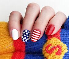 Stars and Stripes Nail Stencils Set - incredible nail art vinyl stencils by Unai