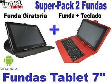 "SUPER PACK FUNDA CON TECLADO + FUNDA GIRATORIA PARA TABLET i-joy next7"""