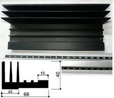 Dissipatore termico in alluminio per elettronica  8 fori filettati 160x66x40mm