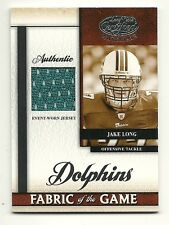 08 Leaf Certified Materials-Rookie Fabric of the Game-Jake Long-124/250