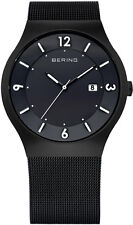 Bering Time - Classic - Men's Black Mesh Solar Watch 14440-222