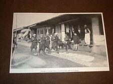 Guerra Albania vs Turchia nel 1913 Marinai d'Italia perlustrano vie di Scutari