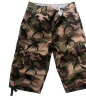 Hot Mens summer Camouflage Baggy Casual Loose Fit Outdoor Cargo Shorts Plus Size