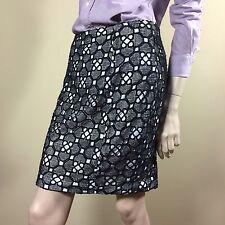 CATHERINE MALANDRINO Damen Rock Gr M 38 Spitze Schwarz Weiß Crochet  Boho Style