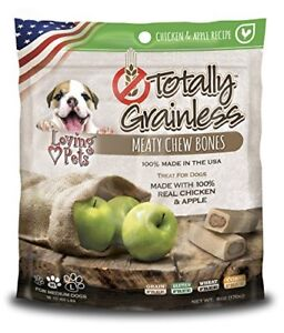 Loving Pets Totally Grainless Chicken and Apple Recipe Meaty Chew Bones fo..
