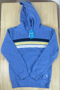 Penguin Junior Original Ocean Blue Sweater/Hoodie, Boys Size 14/16 - New w/Tags