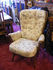Vintage Retro Style Ercol Evergreen Windsor High Stick Back Armchair Arm Chair