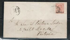 British Columbia #9 Used On Cover To Victoria With 35 Cancel *With Certificate*