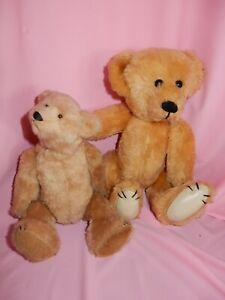 TWO Charming Artist Plush Teddy Bears One Maker Unknown one Linda Spiegel Lore