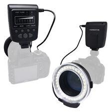 UK Meike FC100S LED Macro Ring Flash 5500K GN15 Light Kit for Sony DSLR Cameras