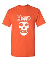 New Misfits Fiend Skull Punk Rock Band T-Shirt Sizes S-2XL Orange