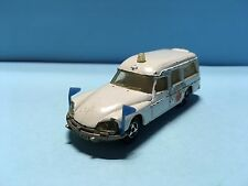 Diecast Majorette Citroën DS 21 Ambulance No. 206 Wear & Tear Used Condition