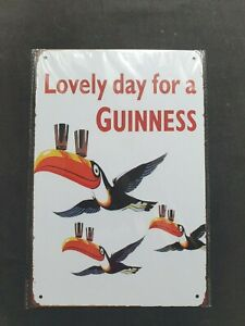 Guinness 3 Toucans Metal Sign Plaque Man Cave Beer Pub Bar Garage Retro Shed