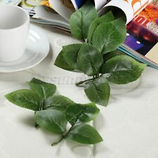 HQ Artificial Silk Green Leaf Rose Leaves Bouquet Garland Decor Flowers 10pcs