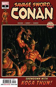 SAVAGE SWORD OF CONAN #5 MARVEL COMICS 2019 ALEX ROSS 1st PRINT BARBARIAN