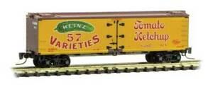 Micro Trains 518 00 640 Z 40' Wood Reefer, Heinz Yellow Series Car 2, HJHCo, 424