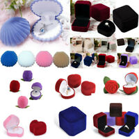 NEW Velvet Earring Ring Jewelry Display Box Engagement Wedding Storage Organizer