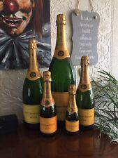 More details for 5 x vintage factice dummy display veuve clicquot ponsardin champagne bottles set