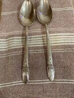 2 Spoons Lot 1847 Rogers Bros. Silverplate Silverware Flatware Vintage