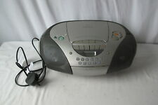 Sony Portable Cd tape radio player CFD-S170L Silver stereo