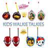 Kids Walkie Talkies Spiderman Avengers Harry Potter Frozen 2 PAW Patrol Cars