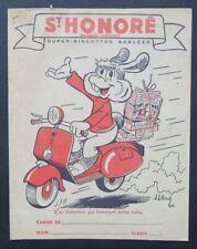 Protège cahier BISCOTTES St-HONORE Scooter Vespa par JL PESCH copybook